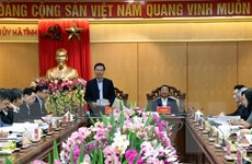 Ông Võ Văn Thưởng kiểm tra công tác phòng, chống tham nhũng ở Hà Tĩnh