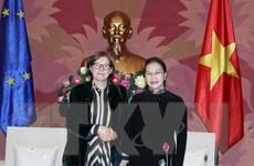 Chủ tịch Quốc hội Nguyễn Thị Kim Ngân tiếp Phó Chủ tịch EP