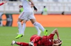 Đức Huy mất trí nhớ tạm thời sau pha va chạm với cầu thủ Iran