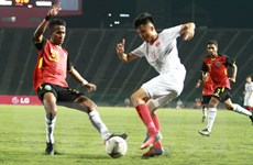 Thắng đậm U22 Timor Leste, U22 Việt Nam vào bán kết sớm 1 lượt trận