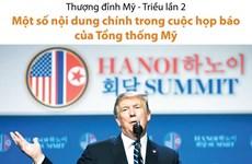 Một số nội dung chính trong cuộc họp báo của Tổng thống Mỹ