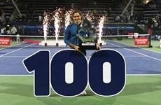 Roger Federer cán mốc 100 danh hiệu ATP trong sự nghiệp