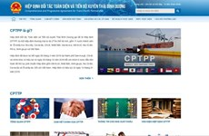 Nâng cấp cấu trúc, nội dung chuyên trang điện tử về Hiệp định CPTPP