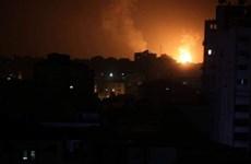 Máy bay chiến đấu Israel tấn công vị trí của Hamas tại Gaza