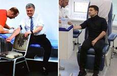 [Video] Tổng Thống Ukraine Poroshenko đi thử máu trước bầu cử vòng 2