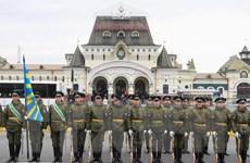 Quân nhân Nga tổng duyệt lễ đón nhà lãnh đạo Triều Tiên Kim Jong-un