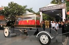Linh cữu nguyên Chủ tịch nước Lê Đức Anh tới Nghĩa trang TP.HCM