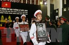 Lễ viếng và mở sổ tang nguyên Chủ tịch nước Lê Đức Anh tại Lào, Nga