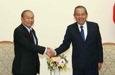 Phó Thủ tướng tiếp Bộ trưởng Bộ Lễ nghi và Tôn giáo Campuchia