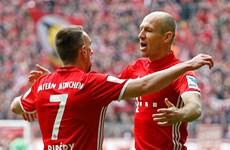 Nhìn lại trận đấu đầu tiên Robben sát cánh Ribery tại Bayern