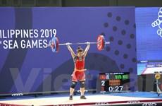Hình ảnh đô cử Hoàng Thị Duyên xuất sắc thiết lập kỷ lục SEA Games