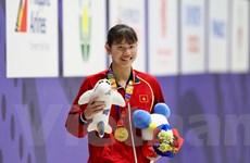 Ánh Viên lập hat-trick huy chương Vàng tại SEA Games 30