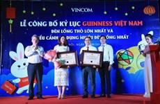 Đèn lồng Thỏ Vọng Nguyệt Vincom đạt kỷ lục Guinness Việt Nam