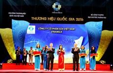 Vinamilk 8 năm liền được vinh danh Thương hiệu Quốc gia