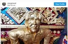 """Ngôi chùa kỳ lạ mang tên"""" Chùa David Beckham"""" ở Thái Lan"""