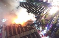 Cháy lớn tại phiên chợ cuối tuần Chatuchak của Thái Lan