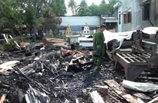 An Giang: Hỏa hoạn tại cơ sở sản xuất đồ gỗ, thiệt hại hàng tỷ đồng