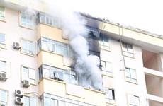 Hà Nội: Cháy lớn tại chung cư 17 tầng ở Nam Trung Yên