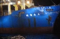 Tàu Trung Quốc bất ngờ va chạm với tàu chở hàng Đài Loan