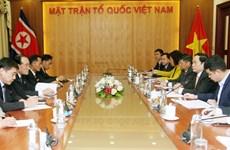 Chủ tịch Ủy ban Trung ương MTTQ tiếp đoàn đại biểu Triều Tiên