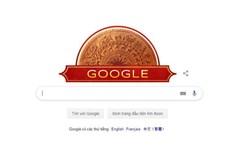 Google trưng doodle hình trống đồng mừng ngày Quốc khánh Việt Nam