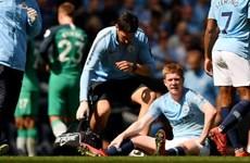 Man City lại mất 'vua kiến tạo' Kevin De Bruyne do chấn thương