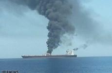 Tàu chở dầu Iran phát nổ ở gần thành phố cảng của Saudi Arabia