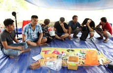 Tây Ninh: Triệt phá tụ điểm đánh bạc giữa rừng cao su