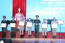 Tuyên dương thành tích lực lượng gìn giữ hoà bình Việt Nam