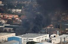 Cháy lớn tại nhà máy tái chế chất thải công nghiệp tại Tây Ban Nha