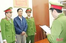 Hà Tĩnh khởi tố cán bộ địa chính xã về tội lạm dụng chức vụ