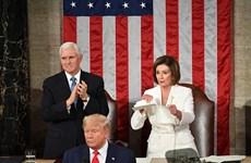 Chủ tịch Hạ viện Mỹ xé bài phát biểu của Tổng thống Donald Trump