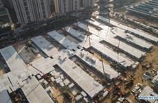 Trung Quốc chuẩn bị hoàn thành bệnh viện dã chiến thứ hai