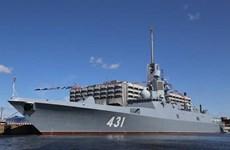 Nga phô diễn sức mạnh của tàu chiến tàng hình Đô đốc Kasatonov