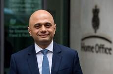 Bộ trưởng Tài chính Anh Sajid Javid bất ngờ xin từ chức