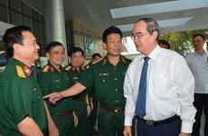 Bí thư Thành ủy TP.HCM chúc mừng Bệnh viện Quân y 175