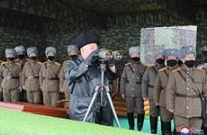 Triều Tiên tập trận dưới sự giám sát của nhà lãnh đạo Kim Jong-un