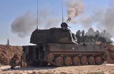 Syria: Lực lượng nổi dậy tiếp tục nã pháo vào thị trấn Saraqeb