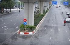 Thành phố Hà Nội yên ắng trong những ngày đầu cách ly xã hội