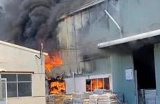 Bình Dương: Cháy lớn tại khu nhà xưởng của công ty sản xuất đồ gốm