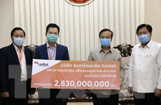 Doanh nghiệp Việt Nam hỗ trợ Lào phòng chống dịch bệnh COVID-19