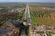 Người dân Syria phản đối Nga và Thổ Nhĩ Kỳ tuần tra chung