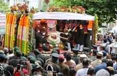 Ấn Độ tổ chức tang lễ cho binh sỹ thiệt mạng do đụng độ ở biên giới