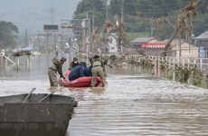 Nhật Bản tăng cường binh sỹ tham gia cứu hộ do mưa lũ