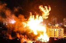 Israel tấn công hàng loạt mục tiêu của phong trào Hamas