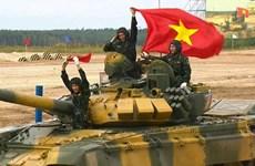 Hình ảnh xe tăng Việt Nam giành á quân ở bảng 2 tại Army Games 2020