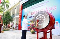 Bí thư Thành ủy Hà Nội gióng trống khai trường năm học mới