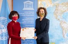 Đại sứ Việt Nam tại UNESCO trình Thư ủy nhiệm
