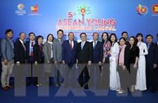 Trao cờ Chủ tịch Hội đồng Doanh nhân trẻ ASEAN 2021