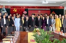 Chủ tịch MTTQ chúc mừng Giáng sinh đồng bào Công giáo tỉnh Nghệ An